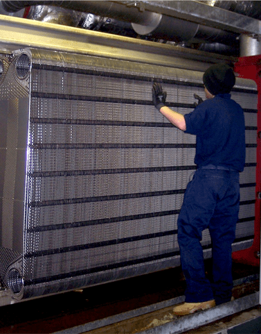 Plate Heat Exchanger WCRUK on-site testing